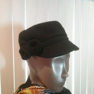 Accessories - NWT Black Wool Blend Cap Final Price
